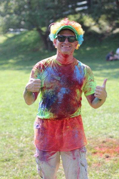 West Hills Day Camp Counselor Covered in Neon Powder