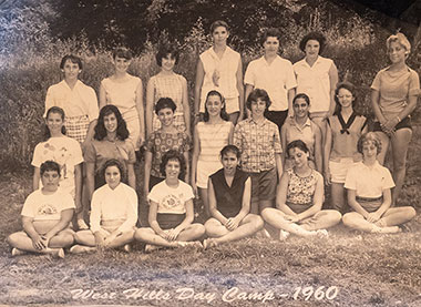 Camp Group at West Hills Day Camp in 1960