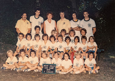 West Hills Day Camp group picture from 1975