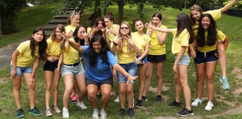 Large Group of Leader in Training Campers Doing Funny Poses