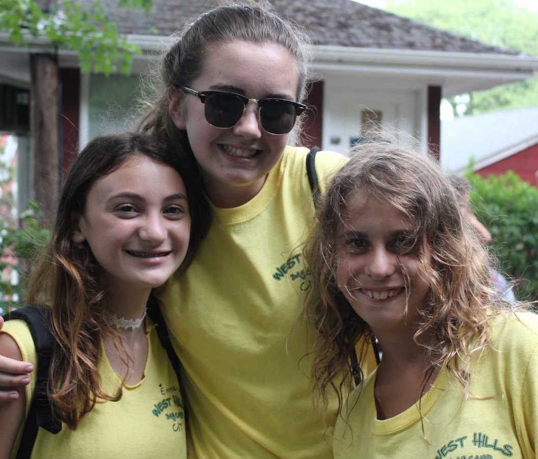 Three Teen Camp Girls Posing for A Picture Together