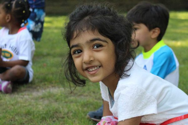Toddler Camper Smiling at the Camera